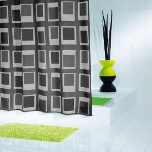 Штора для ванных комнат Up & Down черный 180*200 42930