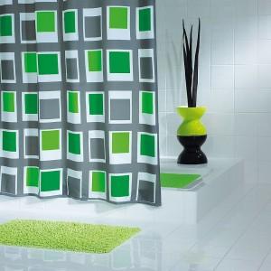 Штора для ванных комнат Up & Down зеленый 180*200 42935