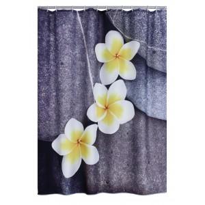 Штора для ванных комнат Wellness серый/цветной 180*200 42243000