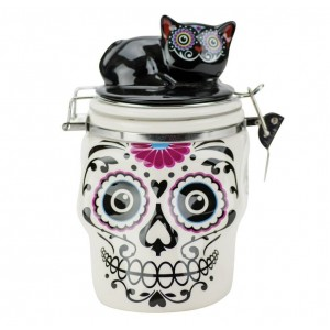 Банка для сыпучих продуктов Boston Dod Skull & Cat 19347