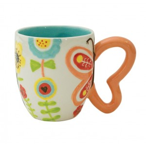 Кружка Boston Flower With Butterfly Handle 25167