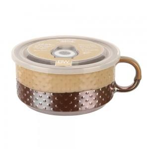 Кружка для супа с крышкой Boston Hobnail 78648BG