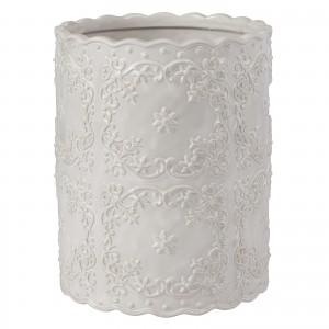 Корзина для мусора Creative Bath Ruffles RUF54WH