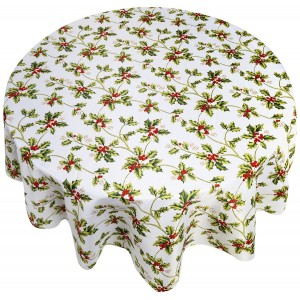 Кухонная скатерть прямоугольная 152х213 см Carnation Home Fashions Holly XFAB-84-HO