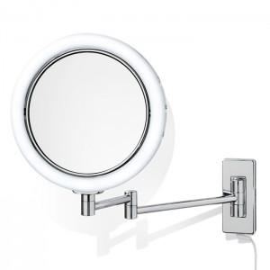 Косметическое зеркало 22см, подвесное, увел. 5x, подсветка LED, цвет: хром Decor Walther BS 13 0119200