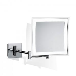 Косметическое зеркало 23x21см, подвесное, увел. 5x, сенсорный вкл., подсветка LED, цвет: хром Decor Walther BS 84 Touch 0121600