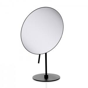 Косметическое зеркало 20.5xh30.5см, настольное, увел. 3x, цвет: черный матовый Decor Walther Round SPT 71 0122560