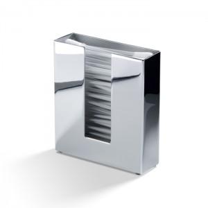Диспенсер для ватных палочек 9.5x2.5x9.5см, цвет: хром Decor Walther DW 353 0844800
