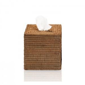 Диспенсер для салфеток 14x14x14см, цвет: ротанг темный Decor Walther Basket KBQ 0930992