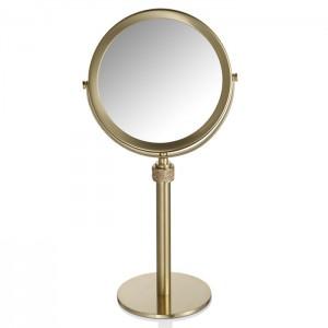 Косметическое зеркало на подставке, с кристаллами Swarovski, цвет: золото матовое Decor Walther Rocks SP 13/V 0934182
