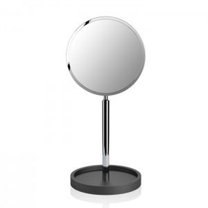 Косметическое зеркало 40x18x16.5см, на подставке, цвет: черный матовый / хром Decor Walther Black Stone KSA 0972460