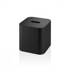 Диспенсер для салфеток 14.2x13.7x13.7см, настольный, цвет: черный матовый Decor Walther Black Stone KBQ 0974060