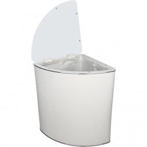 Корзина для белья Geralis FWH-U белая, хром, угловая