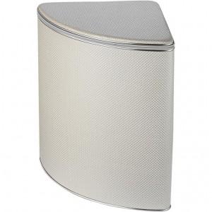 Корзина для белья Geralis RWH-U ромб, белый, хром, угловая