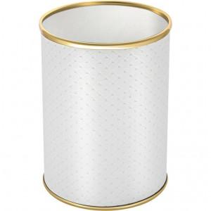 Мусорное ведро Geralis M-PWG-B белое, золото, 3 л
