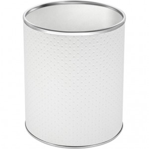 Мусорное ведро Geralis M-PWH-S белое, хром, 7,5 л