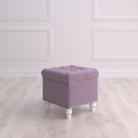 Пуф квадратный малый с ящиком Матера Studioakd puf kv HM26 Светло-фиолетовый