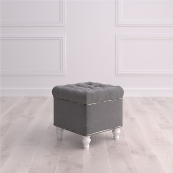 Пуф квадратный малый с ящиком Матера Studioakd puf kv MR11 Серый
