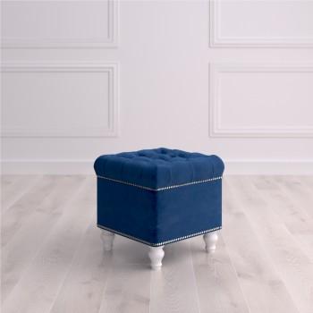 Пуф квадратный малый с ящиком Матера Studioakd puf kv MR20 Синий