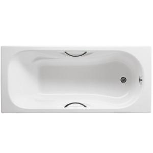 Чугунная ванна Roca Malibu 160x75 с отверстиями под ручки
