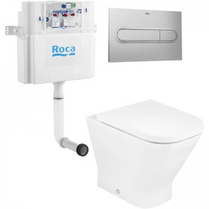 Комплект унитаза Roca The Gap 893109000 с бачком In Wall и кнопкой смыва In Wall PL1
