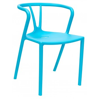 Стул SUMMER пластиковый голубой УТ000001311