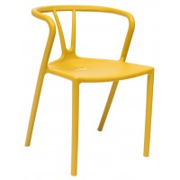 Стул SUMMER пластиковый желтый УТ000001312