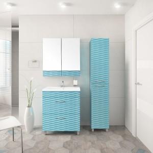 Мебель для ванной Style Line Ассоль 70 Люкс Plus наполная, аквамарин