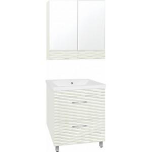 Мебель для ванной Style Line Ассоль 70 Люкс Plus наполная, техно платина