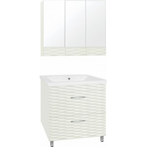 Мебель для ванной Style Line Ассоль 80 Люкс Plus наполная, техно платина