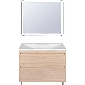 Мебель для ванной Style Line Атлантика 100 Люкс Plus, напольная, ясень перламутр
