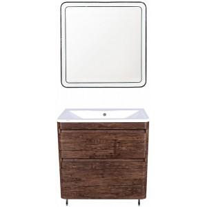Мебель для ванной Style Line Атлантика 80 Люкс Plus, напольная, старое дерево