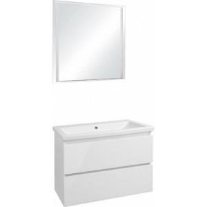 Мебель для ванной Style Line Даймонд 80 Люкс Plus подвесная, белая