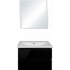Мебель для ванной Style Line Даймонд 80 Люкс Plus подвесная, черная