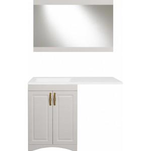 Мебель для ванной Style Line Даллас классик 120 Люкс Plus напольная, рельеф пастель