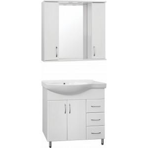 Мебель для ванной Style Line Эко Стандарт №25 82 белая, правая