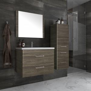 Мебель для ванной Style Line Лотос 80 Plus подвесная, шелк зебрано