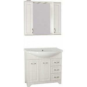 Мебель для ванной Style Line Олеандр-2 90 Люкс, рельеф пастель
