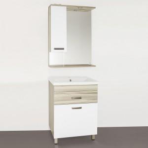Мебель для ванной Style Line Ориноко 60 с бельевой корзиной, белая, ориноко
