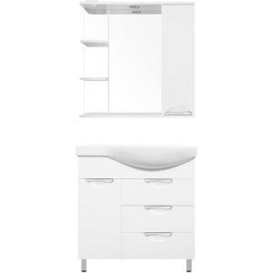 Мебель для ванной Style Line Жасмин 82 L белая, с бельевой корзиной
