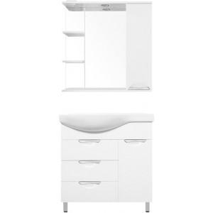 Мебель для ванной Style Line Жасмин 82 R белая, с бельевой корзиной