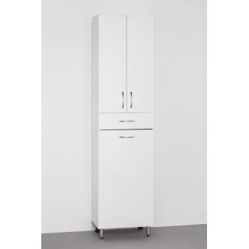 Шкаф-пенал Style Line Эко Стандарт 48 с бельевой корзиной, белый