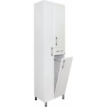 Шкаф-пенал Style Line Эко Стандарт 54 с бельевой корзиной, белый