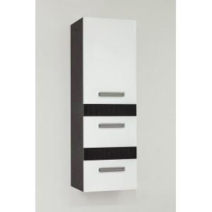 Шкаф-пенал Style Line Сакура 36 Люкс Plus, белый, венге