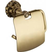 Держатель туалетной бумаги с крышкой Bronze de luxe K25003 бронза