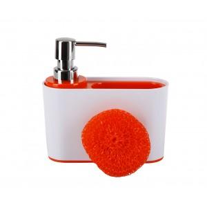 Дозатор для кухни с губкой Sienna D-13190