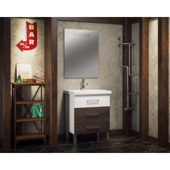 Мебель для ванной напольная Smile Боско 70 Белый/Винтаж