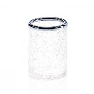Стакан настольный, французское стекло Craquele, цвет: хром / прозрачный Decor Walther Crack BER 0933100