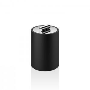 Баночка универсальная 11x8см, с крышкой, цвет: черный матовый Decor Walther Stone DMD S 0971264