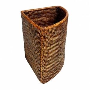 Корзина для белья из ротанга угловая 2kkorzina коричневая 14-03-0694 Br